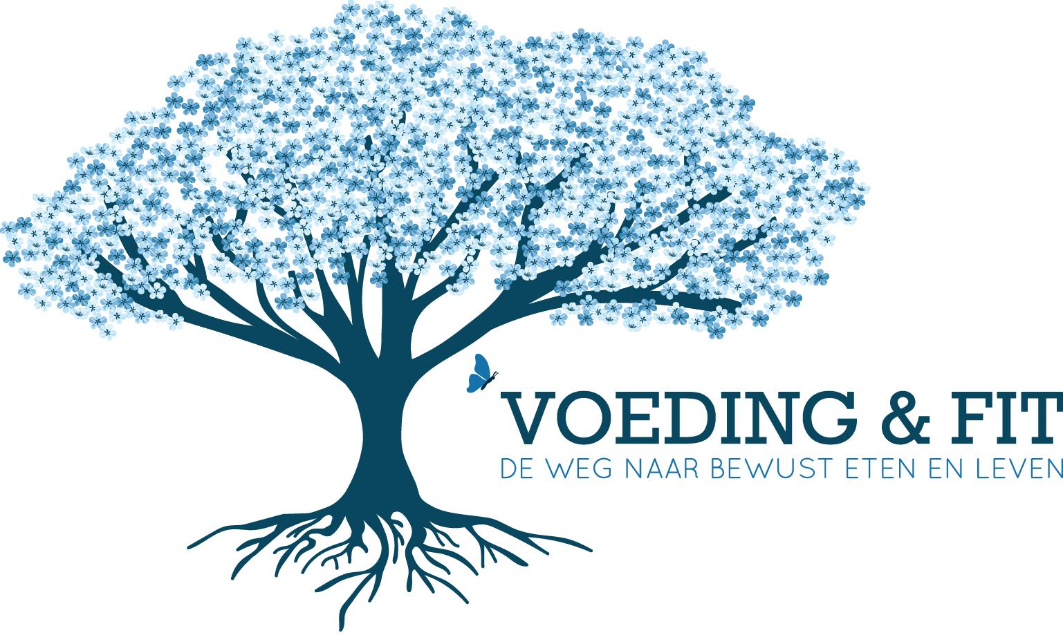 Logo voeding en fit slogan